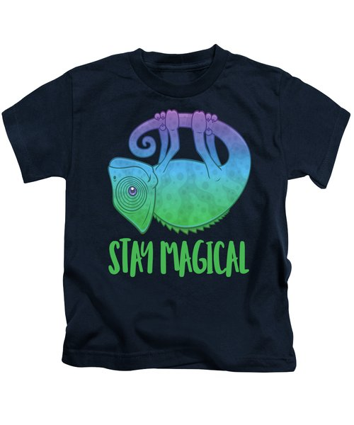Stay Magical Levitating Chameleon Kids T-Shirt