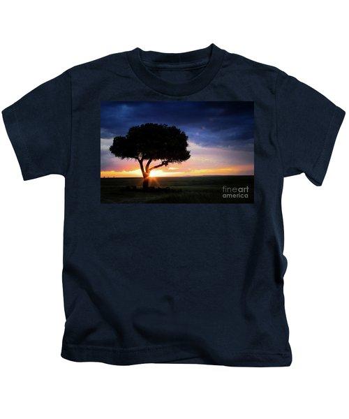 Sunset In The Masai Mara Kids T-Shirt