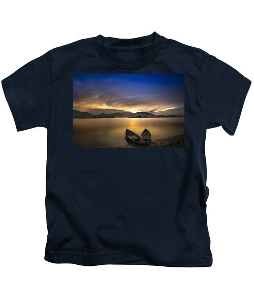 Sunset On The Lake Kids T-Shirt
