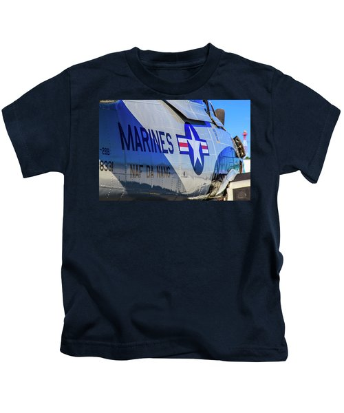 Kids T-Shirt featuring the photograph T-28b Trojan by Doug Camara