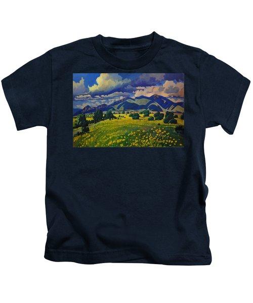 Taos Yellow Flowers Kids T-Shirt