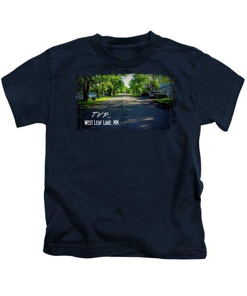 West Leaf Lake, Minnesota Kids T-Shirt