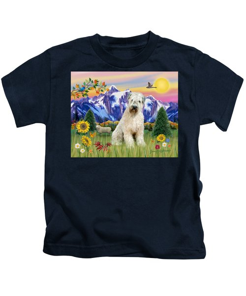 Wheaten Terrier In The Country Kids T-Shirt