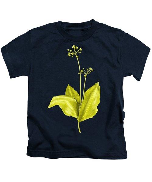 Wild Garlic Plant Botanical Art Kids T-Shirt