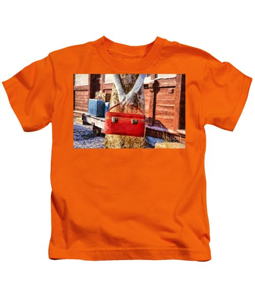 The Woman On Platform 8 Kids T-Shirt