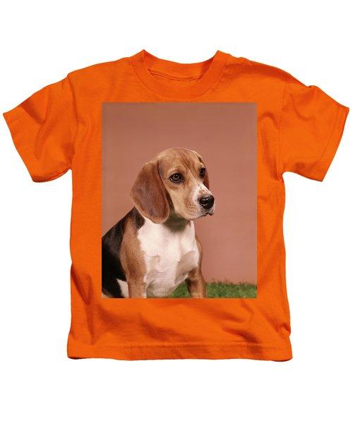 1960s Portrait Of Beagle Dog Kids T-Shirt