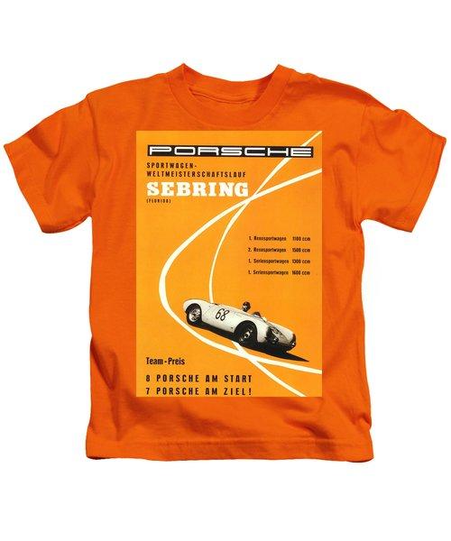 1968 Porsche Sebring Florida Poster Kids T-Shirt