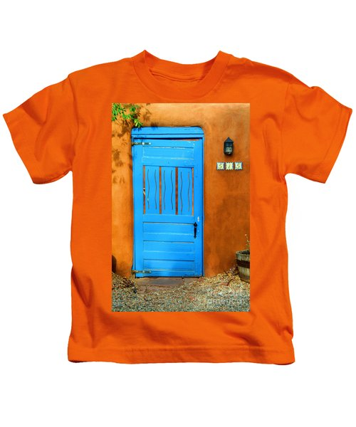 Blue Door In Santa Fe Kids T-Shirt