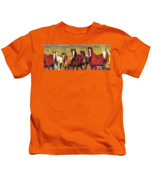Mares And Foals Kids T-Shirt