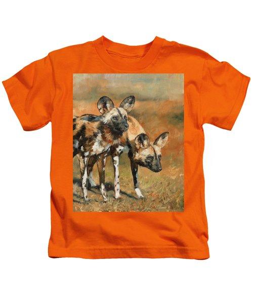 African Wild Dogs Kids T-Shirt