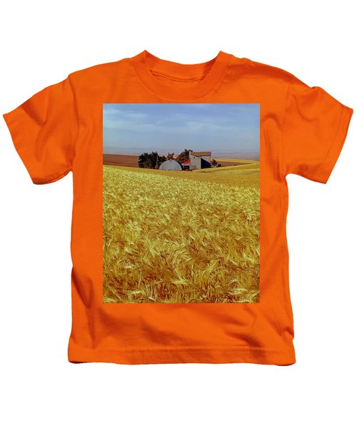 Amber Waves Of Grain - V Kids T-Shirt