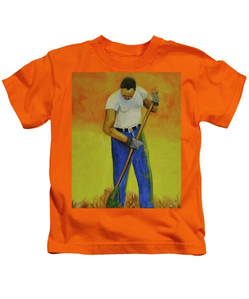 Autumn Raking Kids T-Shirt