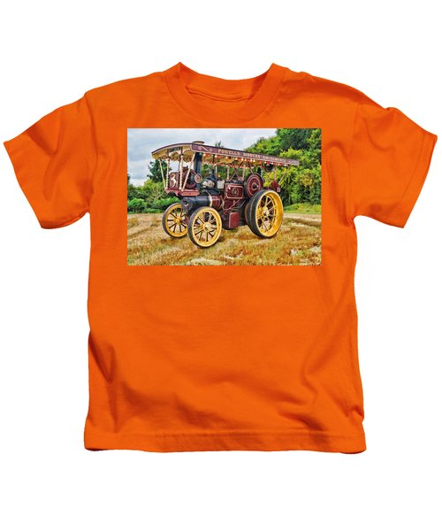 Aveling And Porter Showmans Tractor Kids T-Shirt