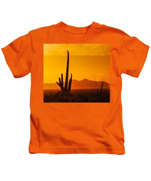 Birds In Silhouette Kids T-Shirt