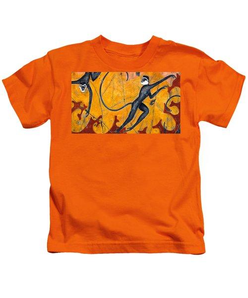 Blue Monkeys No. 9 - Study No. 2 Kids T-Shirt