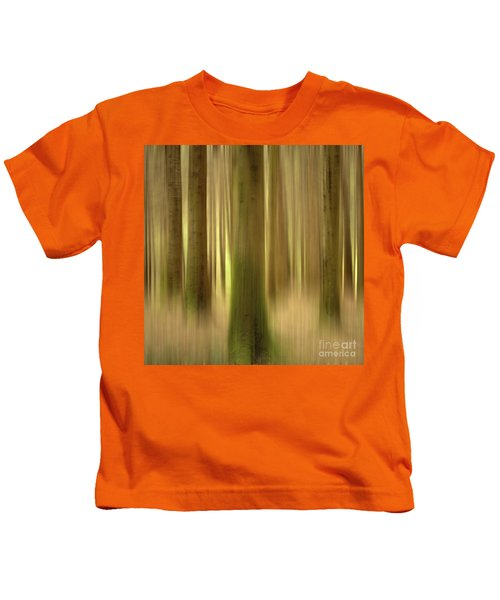Blurred Trunks In A Forest Kids T-Shirt