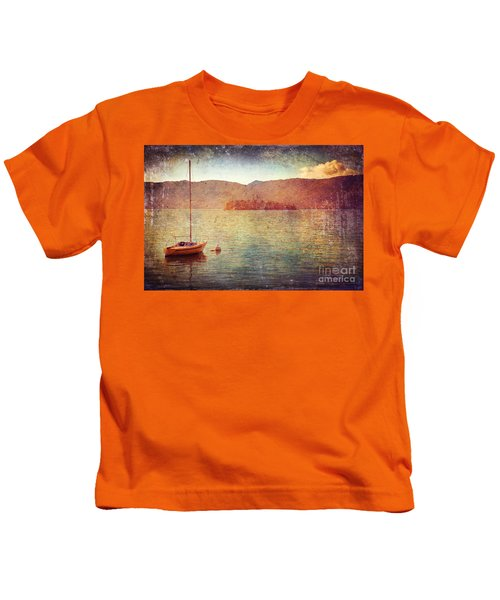 Boat On Lake Maggiore Kids T-Shirt