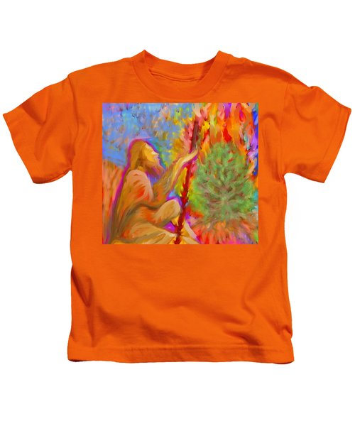 Burning Bush Of Yhwh Kids T-Shirt