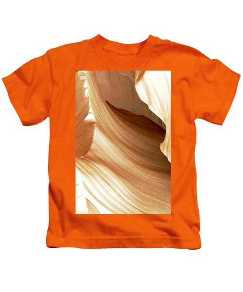 Butterscotch Taffy Antelope Canyon Kids T-Shirt