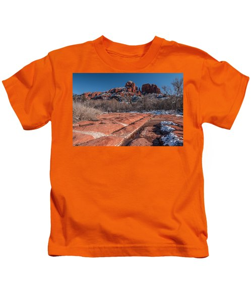 Cathedral Rock Winter Kids T-Shirt