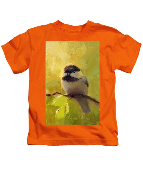 Chatty Chickadee - Cheeky Bird Kids T-Shirt