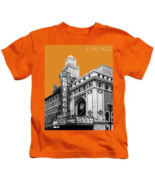 Chicago Theater - Dark Orange Kids T-Shirt
