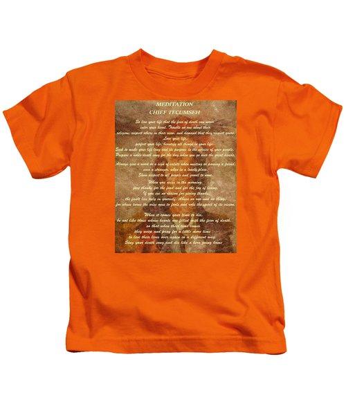Chief Tecumseh Poem Kids T-Shirt