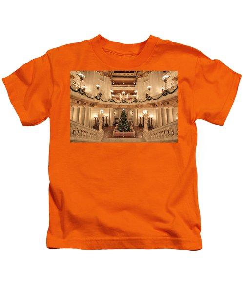 Christmas In The Rotunda Kids T-Shirt