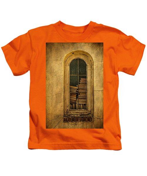 Church Window With Books Kids T-Shirt