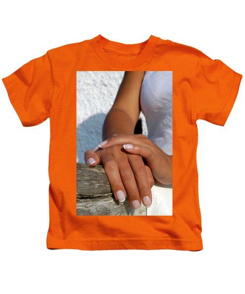 Close Up Of Beautiful Young Female Kids T-Shirt