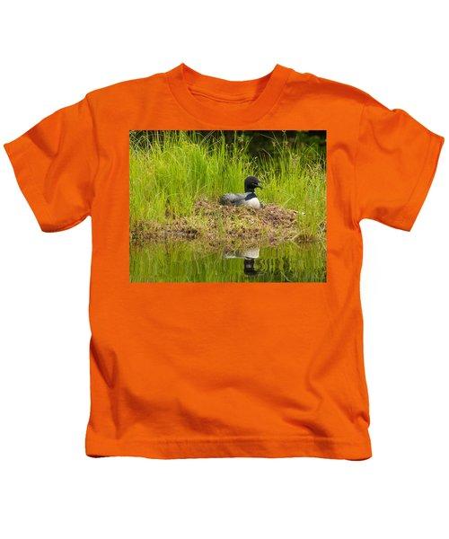 Common Loon Nesting Kids T-Shirt