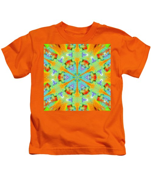 Cosmic Spiral Kaleidoscope 41 Kids T-Shirt