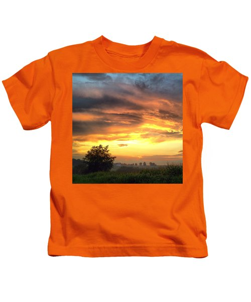 Country Scene From Hilltop To Hilltop Kids T-Shirt
