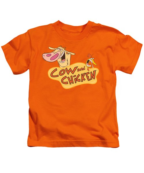 Cow And Chicken - Logo Kids T-Shirt