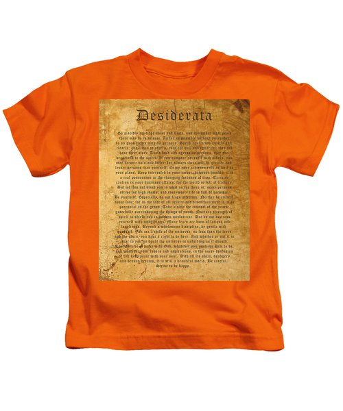 Desiderata Kids T-Shirt