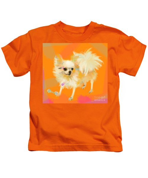 Dog Chihuahua Orange Kids T-Shirt