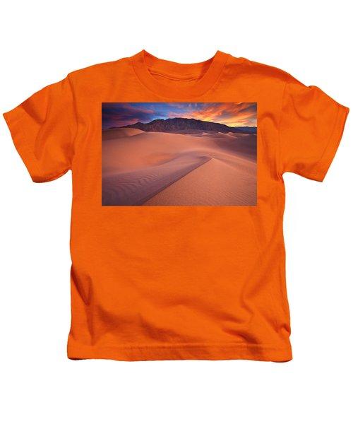 Fire On Mesquite Dunes Kids T-Shirt