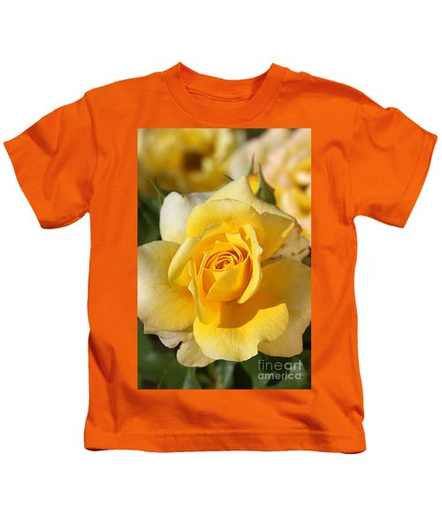Flower-yellow Rose-delight Kids T-Shirt