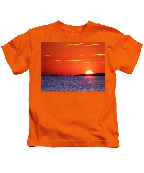 Fort Story Sunrise Kids T-Shirt
