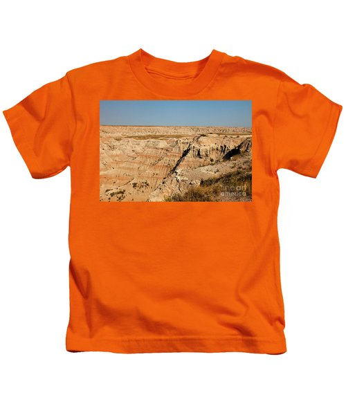 Fossil Exhibit Trail Badlands National Park Kids T-Shirt