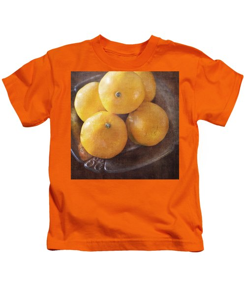 Fruit Still Life Oranges And Antique Silver Kids T-Shirt