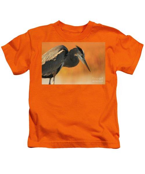 Great Blue Heron Focus Kids T-Shirt