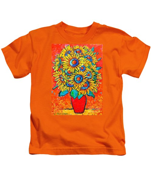Happy Sunflowers Kids T-Shirt