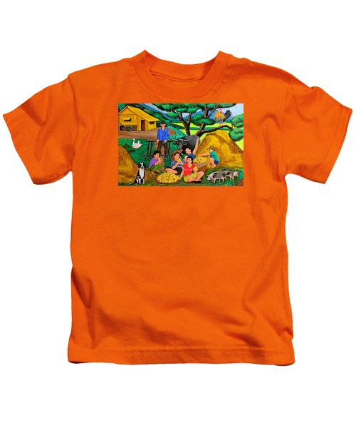 Harvest Time Kids T-Shirt by Cyril Maza
