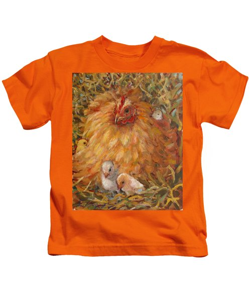 Hen And Chicks Kids T-Shirt