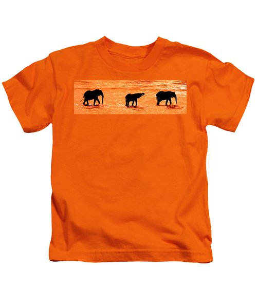 Herd Of African Elephants Loxodonta Kids T-Shirt