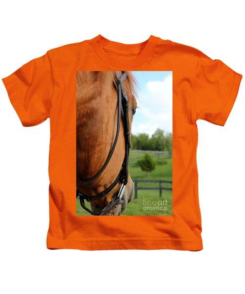 Horse View Kids T-Shirt