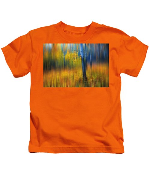 In The Golden Woods. Impressionism Kids T-Shirt