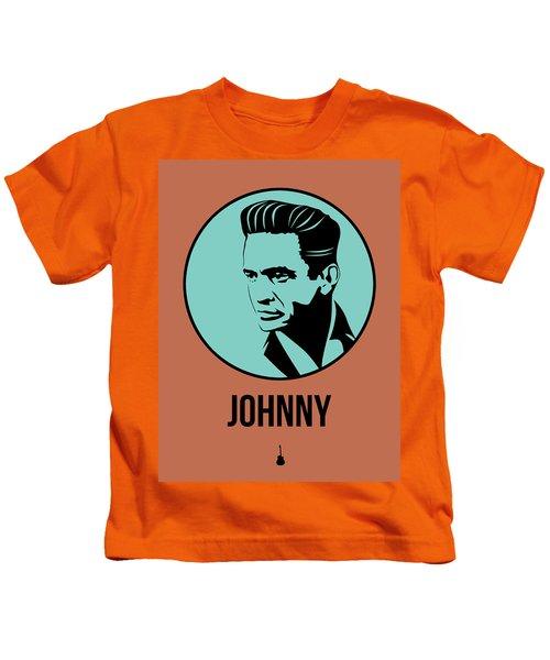 Johnny Poster 1 Kids T-Shirt by Naxart Studio