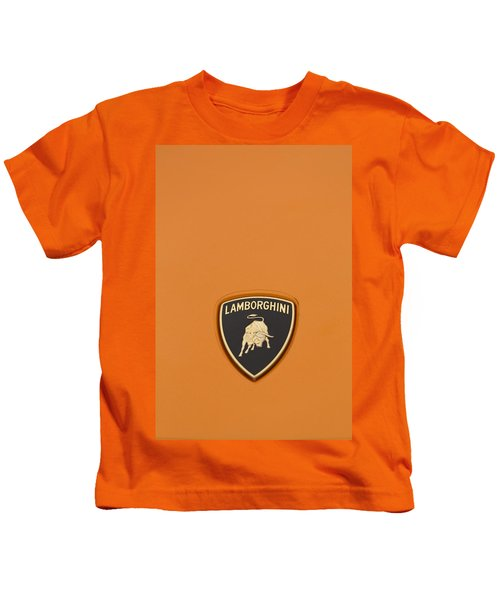 Lambo Hood Ornament Orange Kids T-Shirt